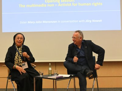 Sister Mary in conversation with Jörg Nowak